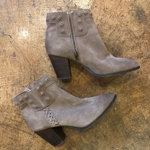Dolce Vita Tan Suede Booties